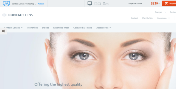 Contact Lenses PrestaShop Theme