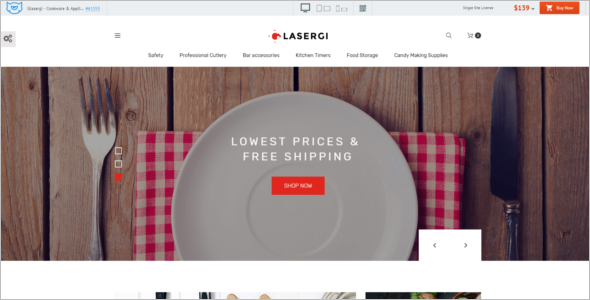 Cookware & Appliances PrestaShop Theme
