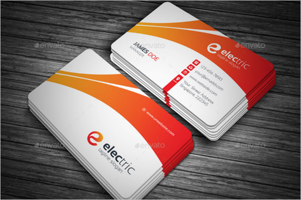 Corporate Electric Business Cards