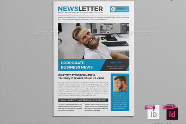 30 Business Newsletter Templates Free Premium – Corporate Newsletter Template