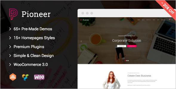 Corporate PHP WordPress Theme