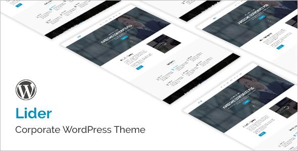Corporate landing Page WordPress Theme
