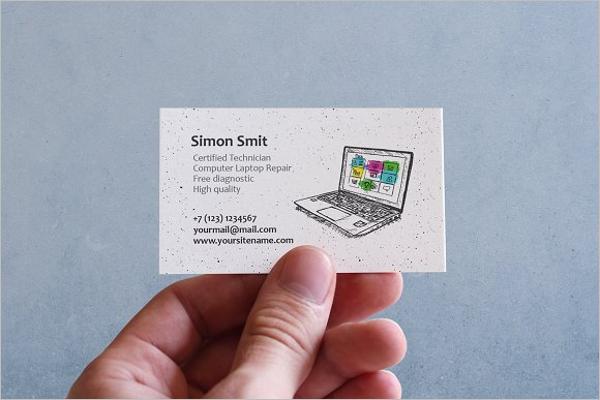 Creative Computer Reapir Business Card