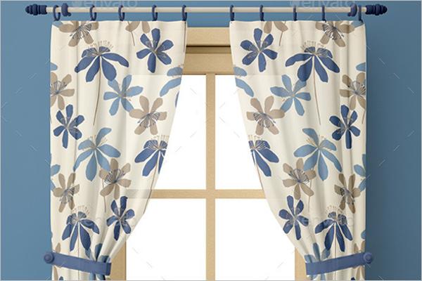 Creative Curtain Mockup Template