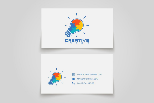 Creative Electric Business Card Template.