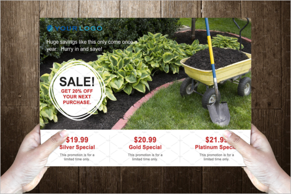 Creative Gardening Postcard Template