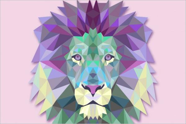 Creative Geometric Triangle Template