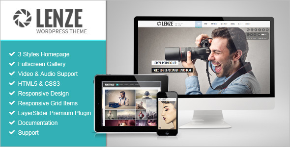 Creative Grid Style WordPress Template