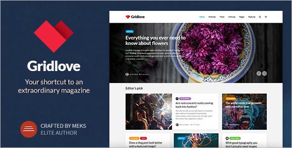 Creative Grid Style WordPress Theme