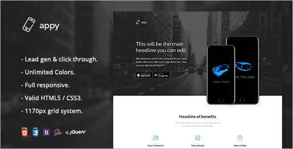 Creative HTML5 Landing Page Template
