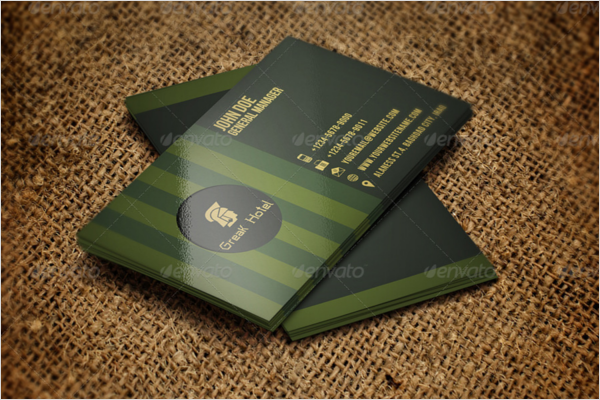 Creative Hotel Business Card Template