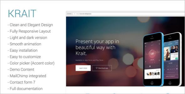 Creative Landing Page WordPress Theme