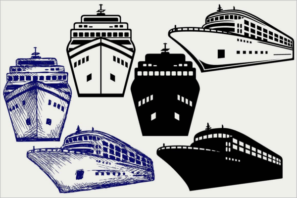 Creative Ship Art Vector Design