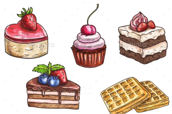 Creative Sketch Cakes Template