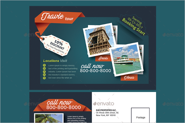 Creative Travel Postcard Template