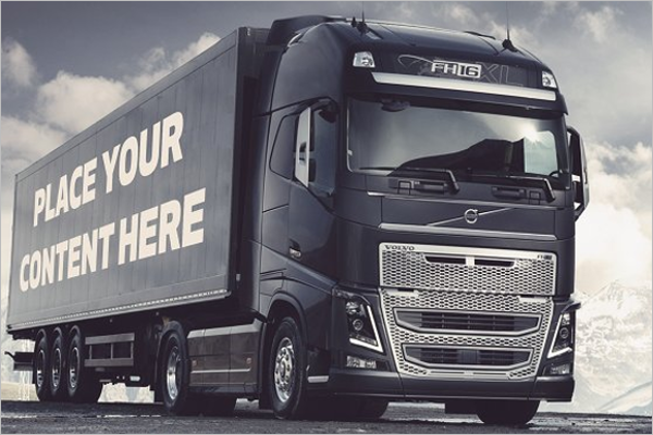 Creative Truck Mockup Temlate