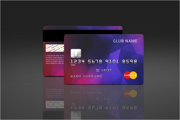 credit card mockup design