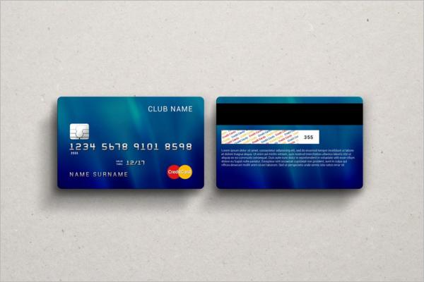 Credit Card PSD Mockup Template