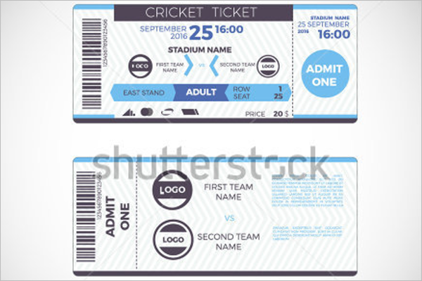 Cricket Event Ticket Template  Event Ticket Template