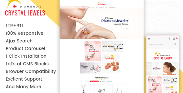 Crystal Jewelry Prestashop Responsive Theme