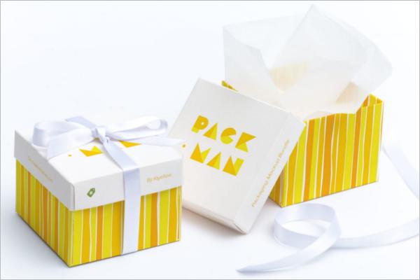 Cube Gift Box Mockup Design