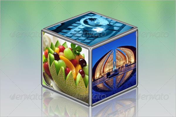 Cubic Photo Display Mock-Up