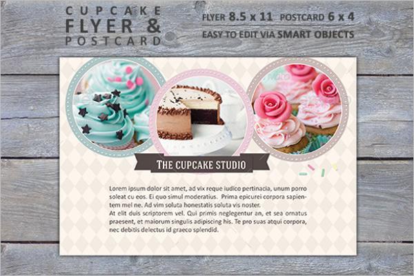 Cupcake Bakery Postcard Template
