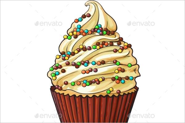 Cupcake Cream Template
