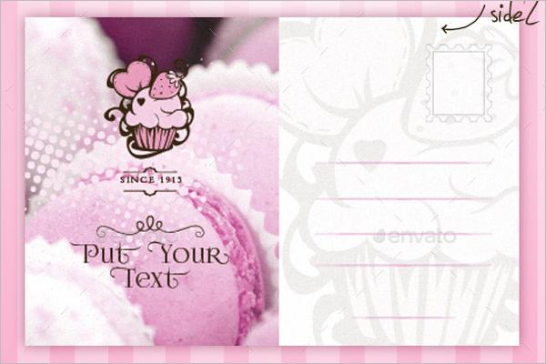 Cupcake Postcard Template