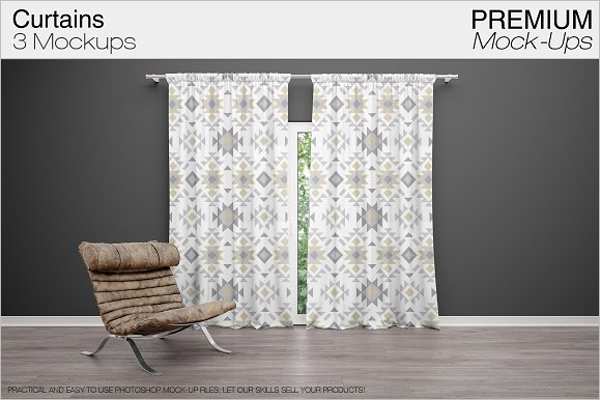 Curtain Background Mockup Template