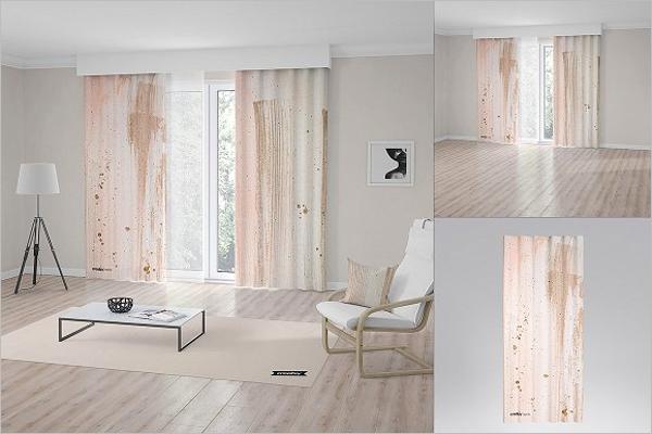 Curtain Mockup Bundle Template