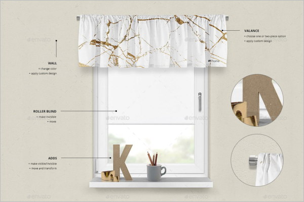 Curtain Mockup Photos Template