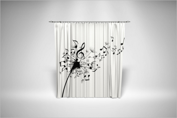 Curtain Presentation Mockup Template