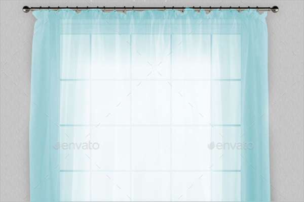 Curtain & Wall Mockup Sample Template