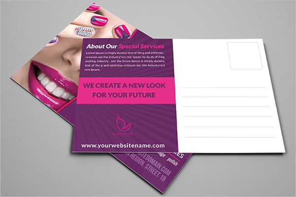 Custamizable Beauty Postcard Template