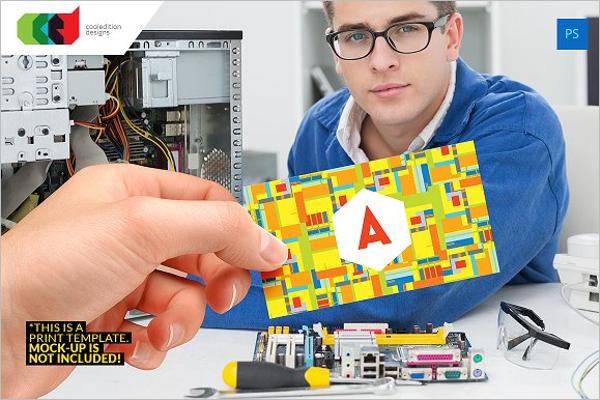 Custamizable Computer Business Card