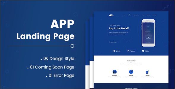 Custamizable HTML5 Landing Page Template