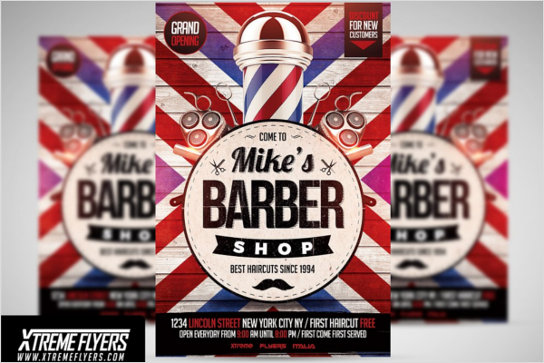 Customizable Barber Shop Flyer Design