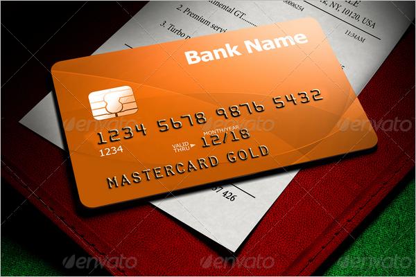 Customizable Credit Card Mockup Design