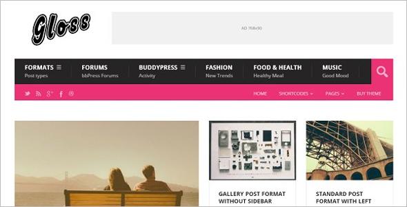 Customizable PHP Magazine Theme
