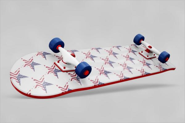 CustomizableSkateboard Mockup Design