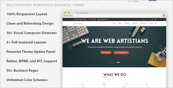 Customizable WordPress Theme for Startup