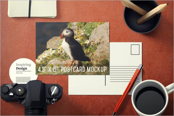 Customize Travel Postcard Template