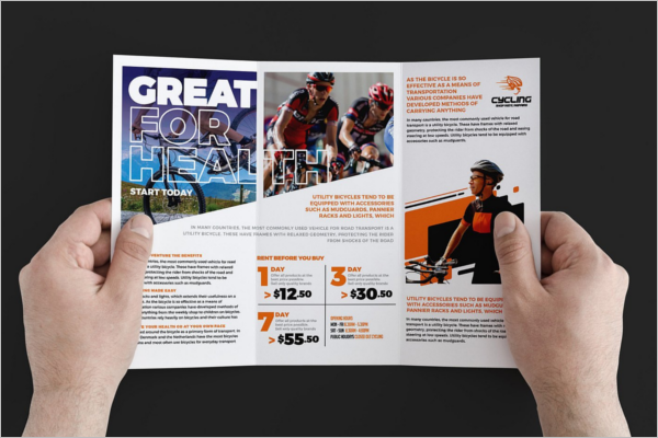 Cycling Trifold Brochure