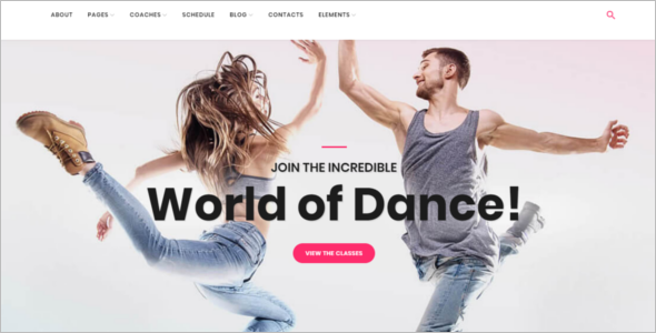 Dance School WordPress Template
