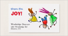 Day Care Business Card Templates