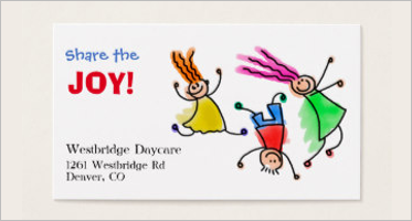 7 day care business card templates free ideas - Daycare Business Cards