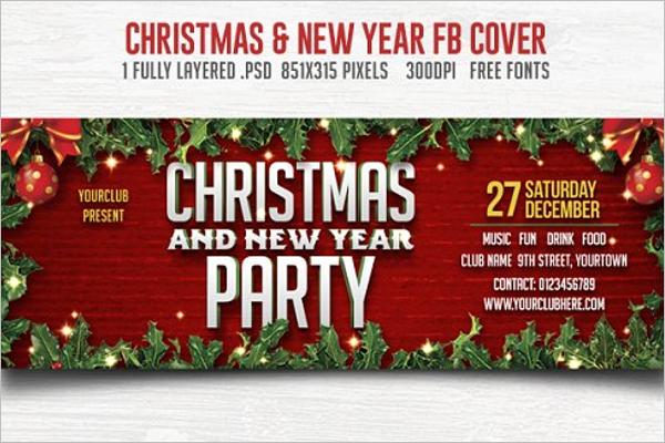 Decorative Christmas Facebook Cover
