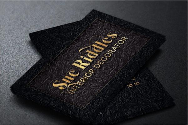 Decorator Business Card Template
