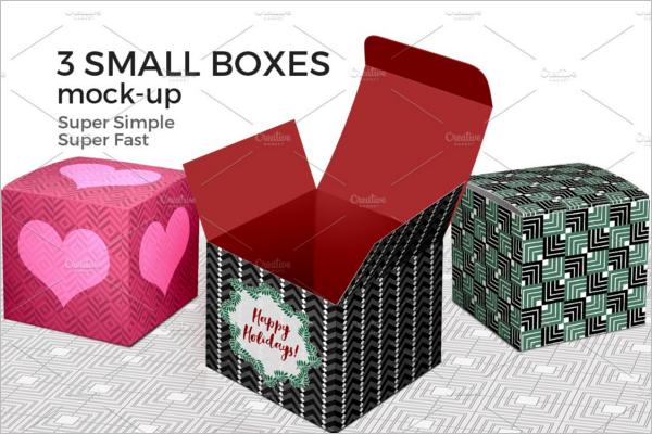 Design Pattern Gift Box Mockup